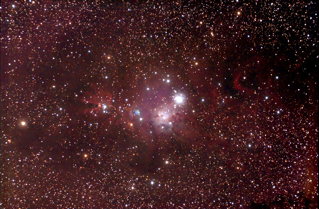 Christmas Tree Cluster (NGC-2264) and Cone Nebula in
