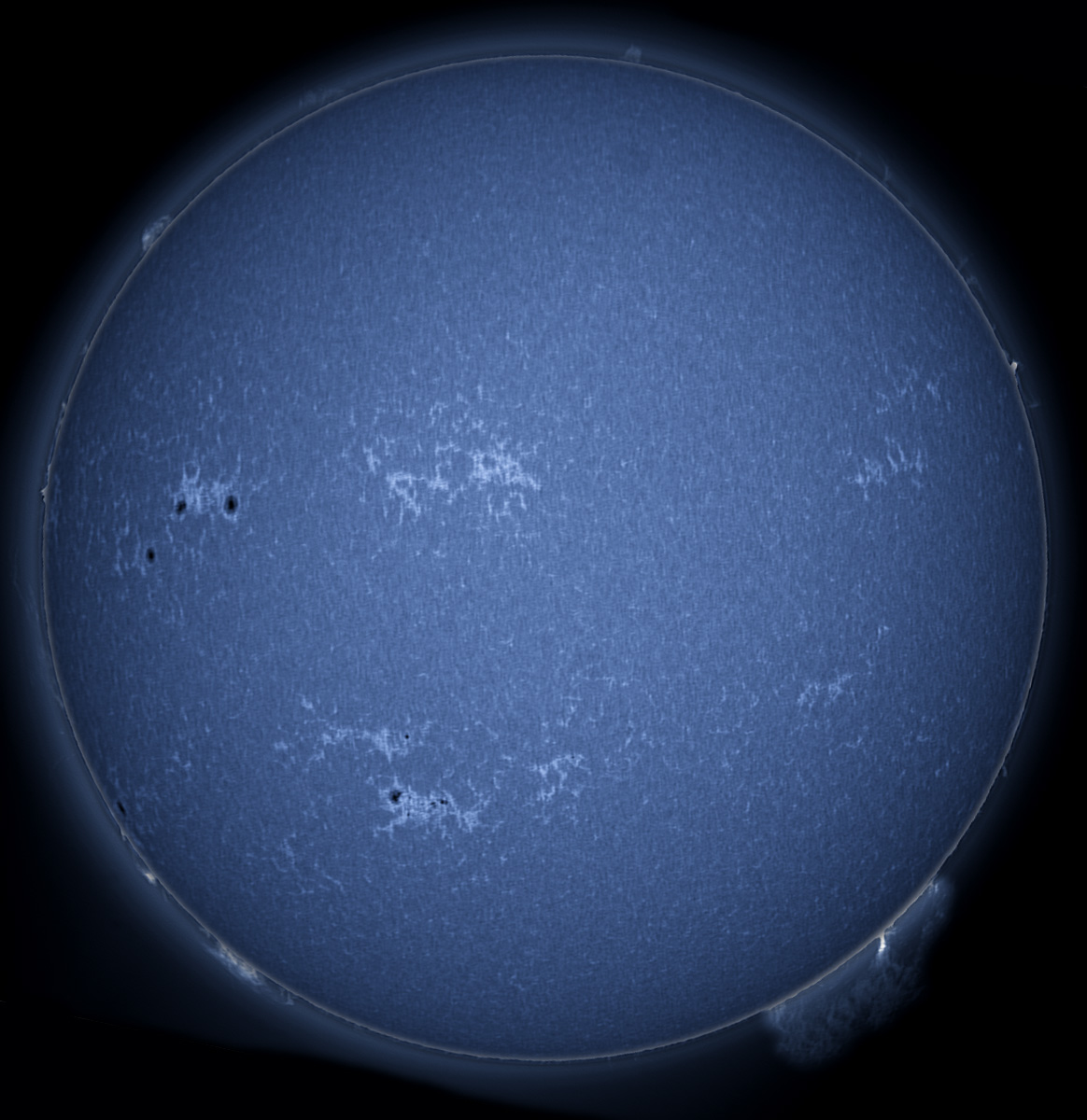 Solar Images In H-alpha, CaK, And White Light 11/10/2012
